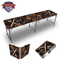 Pirate Skull Cannon Themed 8ft Tailgate Table