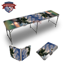 Sunset Palm Themed 8ft Tailgate Table