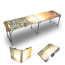 Sunset Beach Themed 8ft Tailgate Table