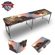 Wave Curl Themed 8ft Tailgate Table