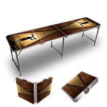 Wood Long Boards Themed 8ft Tailgate Table