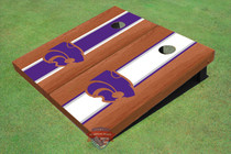 Kansas State University Wildcats Rosewood Alternating Long Stripe Cornhole Boards