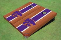 Kansas State University Wildcats Purple Rosewood Matching Long Strip Cornhole Boards