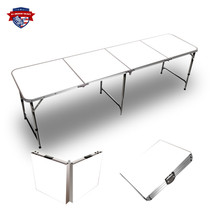 Plain White 8ft Tailgate Table