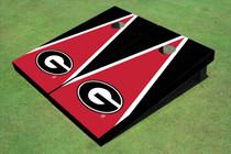 "University Of Georgia ""G"" Red And Black Matching Triangle Cornhole Boards"
