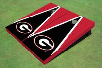 "University Of Georgia ""G"" Black And Red Matching Triangle Cornhole Boards"