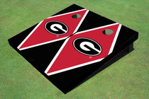 "University Of Georgia ""G"" Red And Black Matching Diamond Cornhole Boards"