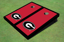 "University Of Georgia ""G"" Black Matching Border Cornhole Boards"