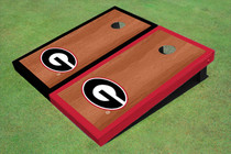 "University Of Georgia ""G"" Rosewood Alternating Border Cornhole Boards"