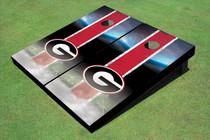 "University Of Georgia ""G"" Field Long Strip Matching Red Themed Cornhole Boards"