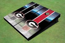 "University Of Georgia ""G"" Field Long Strip Alternating Themed Cornhole Boards"