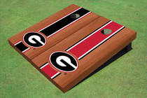 "University Of Georgia ""G"" Rosewood Alternating Long Stripe Cornhole Boards"