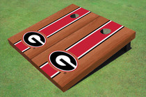 "University Of Georgia ""G"" Red Rosewood Matching Long Strip Cornhole Boards"