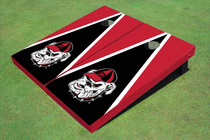 "University Of Georgia ""Hairy Dawg"" Black And Red Matching Triangle Cornhole Boards"