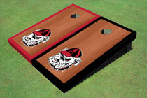 "University Of Georgia ""Hairy Dawg"" Rosewood Alternating Border Cornhole Boards"