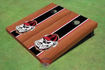 "University Of Georgia ""Hairy Dawg"" Black Rosewood Matching Long Stripe Cornhole Boards"