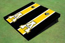 """Appalachian State University """"A"""" Yellow And Black Matching Long Stripe Cornhole Boards"""
