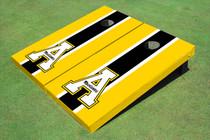 """Appalachian State University """"A"""" Black And Yellow Matching Long Stripe Cornhole Boards"""
