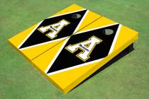 """Appalachian State University """"A"""" Black And Yellow Matching Diamond Cornhole Boards"""