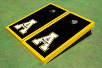 """Appalachian State University """"A"""" Yellow Matching Border Cornhole Boards"""