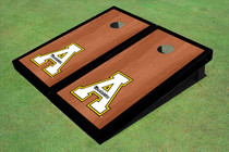 """Appalachian State University """"A"""" Black Rosewood Matching Borders Cornhole Boards"""