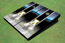 "Appalachian State University ""A"" Field Long Strip Matching Black Themed Cornhole Boards"