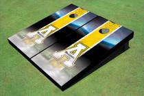 """Appalachian State University """"A"""" Field Long Strip Matching Yellow Themed Cornhole Boards"""