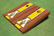 """Appalachian State University """"A"""" Yellow Rosewood Matching Long Strip Cornhole Boards"""