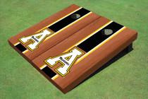 """Appalachian State University """"A"""" Black Rosewood Matching Long Stripe Cornhole Boards"""
