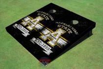 "Appalachian State University EST ""A"" Black Solid Cornhole Boards"