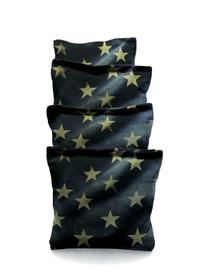 4 American Flag Stars Grunge Themed Cornhole Bags