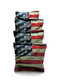 4 American Flag Themed Cornhole Bags
