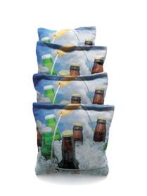 4 Beer Bucket # 2 Themed Custom Cornhole Bags