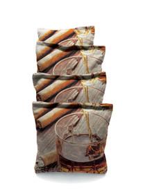 Cigar And Conac #1 Custom Cornhole Bags