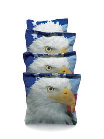 4 Eagle With Flag Custom Cornhole Bags