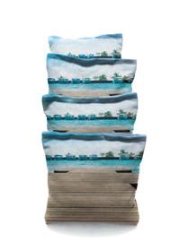 4 Lake Dock Custom Cornhole Bags