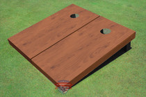 Rosewood Stained Solid Border Cornhole Boards