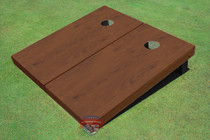 Walnut Stained Solid Border Cornhole Boards