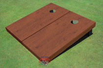 Vermont Stained Solid Border Cornhole Boards