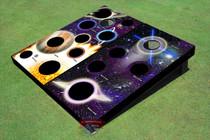 Custom Corn Hole Galaxy And Worm Hole Graphic Cornhole Boards