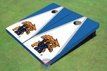University Of Kentucky Wildcat White And Blue Matching Triangle Cornhole Boards