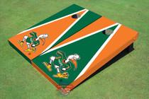 "University Of Miami ""The IBIS"" Alternating Triangle Cornhole Boards"
