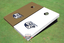 Georgia Southern University Alternating Solid Cornhole Boards