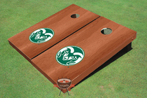 Colorado State University Rams Solid Rosewood Cornhole Boards