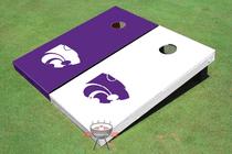 Kansas State University Alternating Solid Cornhole Board