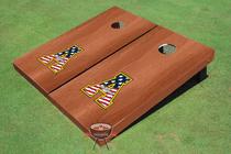 "Appalachian State University ""A"" Solid Rosewood Cornhole Boards"