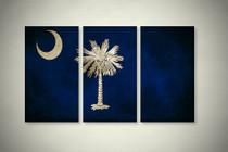 Rustic South Carolina State Flag Elegant Wall Art