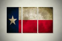 Rustic Texas State Flag Elegant Wall Art