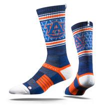 Auburn University Navy Heather Tiger  Strapped Fit 2.0 Socks