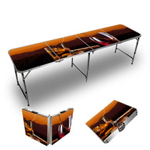 Custom Congac And Wine Mountain Sunset Themed 8ft Tailgate Table
